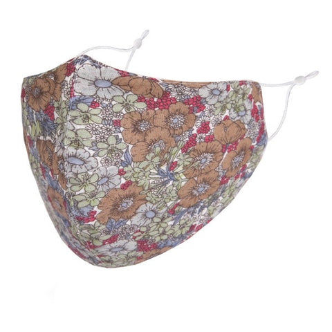Camillions Adjustable Face Masks - Taupe Floral