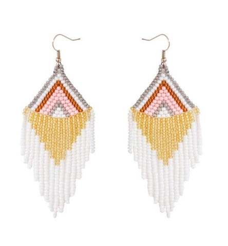 Camillions Embera Beaded Earrings - Rosavie