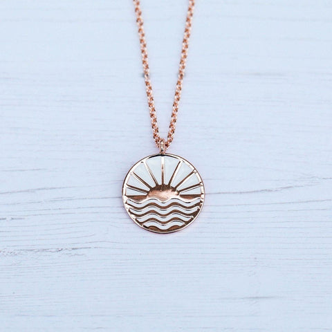 Pura Vida Sunrise to Sunset Necklace - Rose Gold