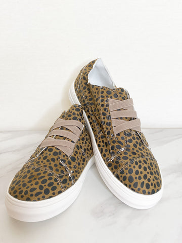 Camillions Brown Leopard Print Slip-On Sneakers