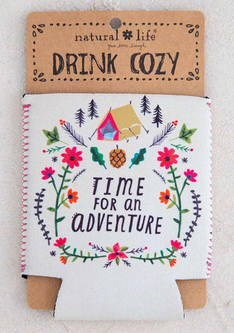 Natural Life Time for an Adventure Drink Cozy