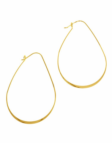 Joy Susan Thin Oval Hoop Gold Earrings