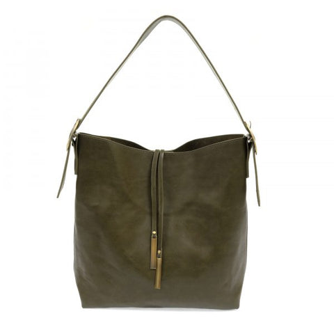 Joy Susan Jillian Hobo Handbag - Olive