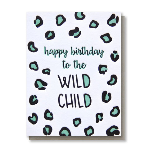 Kiss and Punch Wild Child Card