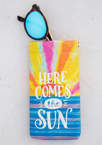 Natural Life Here Comes the Sun Sunglass Case