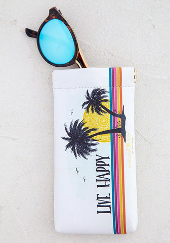Natural Life Live Happy Sunglasses Case