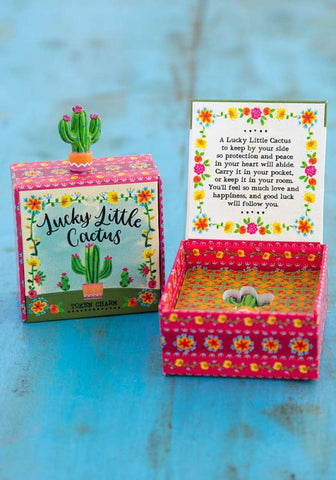 Natural Life Lucky Little Charms - Cactus