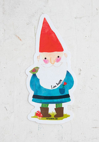 Natural Life Sticker  - Gnome Live Happy
