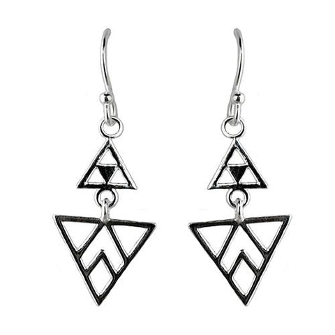 Tomas Cutout Chevron Triangle Sterling Silver Earrings