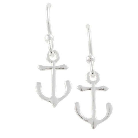 Tomas Small Anchor Dangle Sterling Silver Earrings