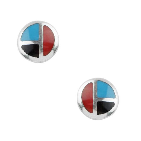 Tomas Round Tricolor Sterling Silver Earrings