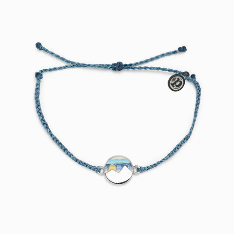 Pura Vida Twin Peaks Bracelet - Dusty Blue
