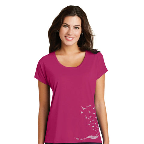 Let It Go Drapey Scoop Neck T-Shirt - Azalea