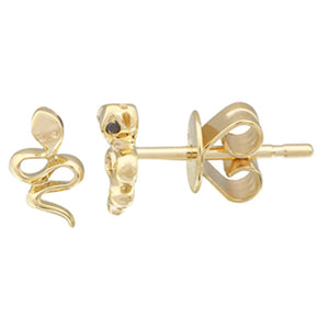 Snake Black Diamond Simple Stud Earrings - Euro Time & Jewels