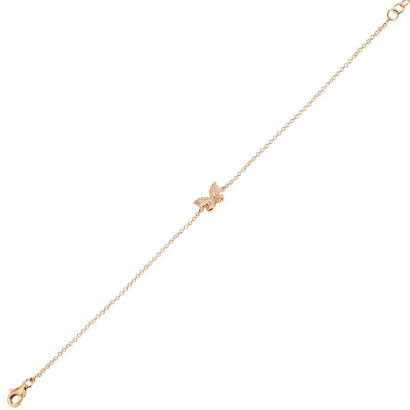 Butterfly Diamond Chain Bracelet - Euro Time & Jewels