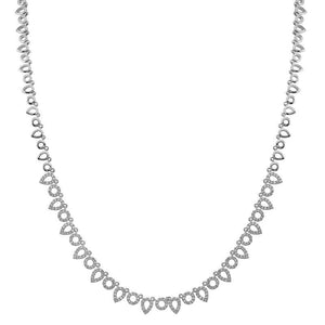 Open Pear & Open Circle Diamond Necklace | Heist Jewelry