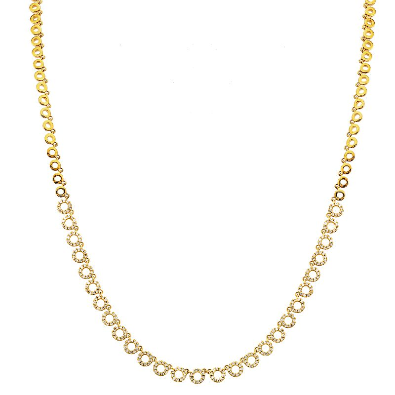 Open Circle Repeating Gold Necklace - Euro Time & Jewels