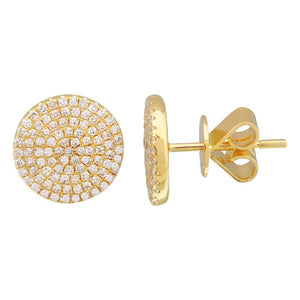 Pave Circle Stud Earrings - Euro Time & Jewels