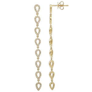 Diamond Teardrop Drop Earrings - Euro Time & Jewels