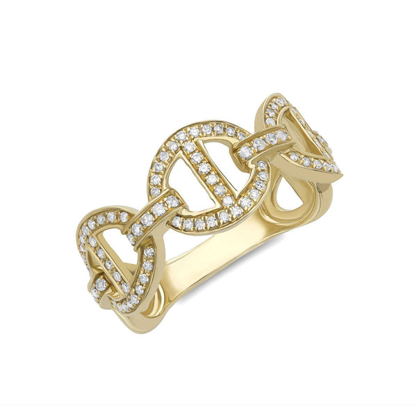 14K YELLOW GOLD, DIAMOND, ROUNDED, RING