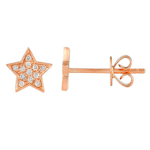 Mini Star Stud Diamond Earrings - Euro Time & Jewels