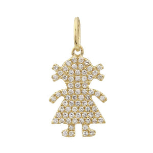 Diamond Girl Necklace Charm