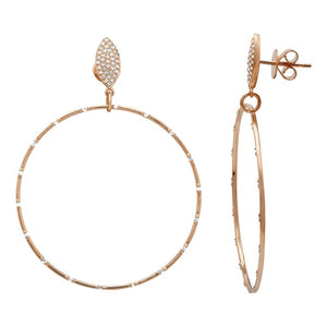 Teardrop Diamond Stud & Hoop Earrings - Euro Time & Jewels