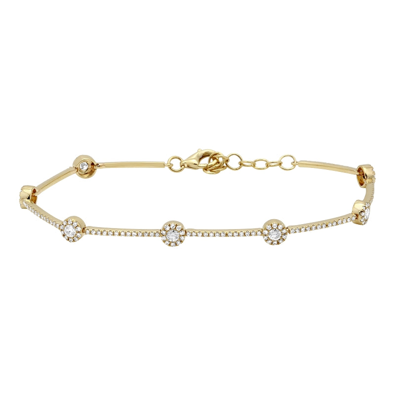 Simple Circle Diamond Bracelet - Euro Time & Jewels