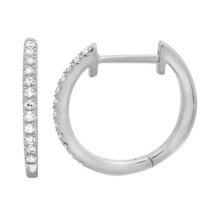 13mm Diamond Huggies