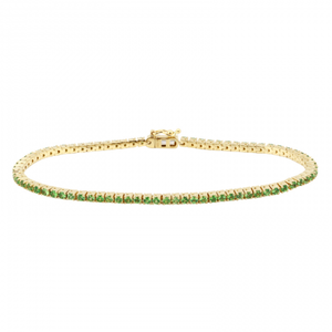 Green Gemstone Gold Bracelet - Euro Time & Jewels