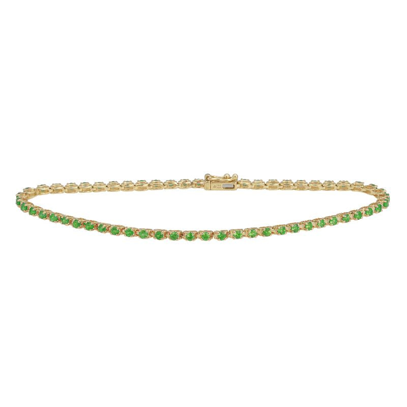 4 Prong Gemstome Tennis Bracelet - Euro Time & Jewels