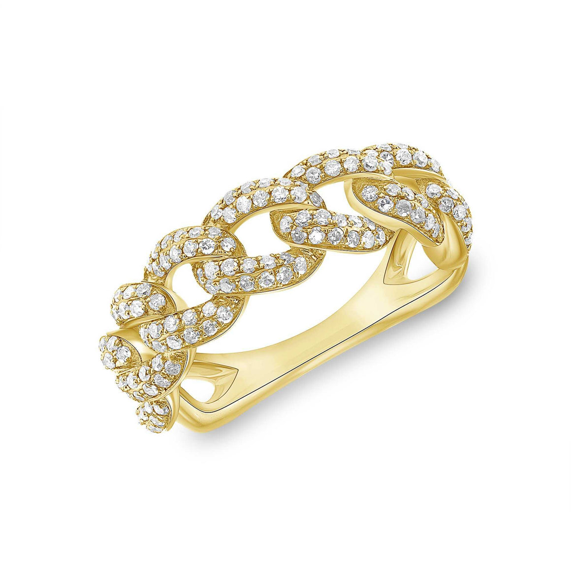 14K YELLOW GOLD, DIAMOND, ROUND CONNECT RING - Euro Time & Jewels