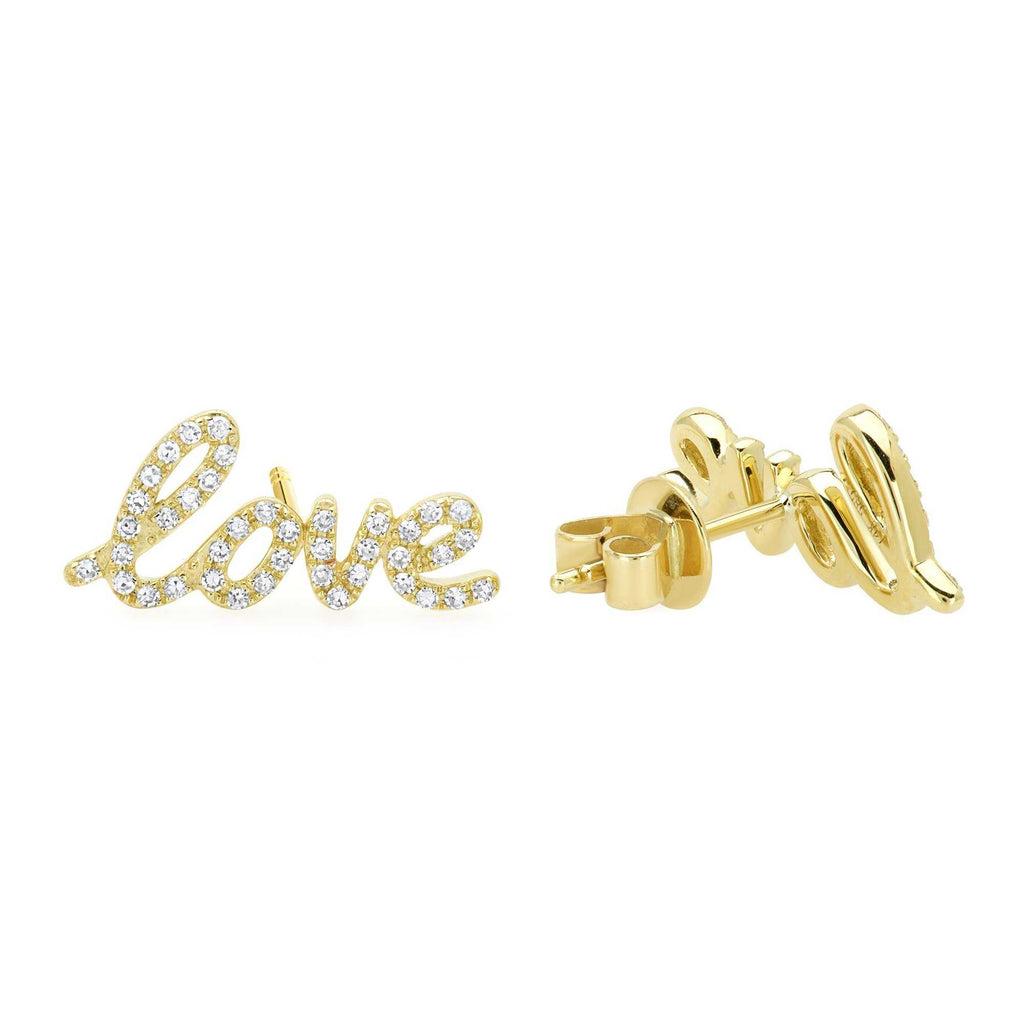 14K DIAMOND LOVE EARRING - Euro Time & Jewels