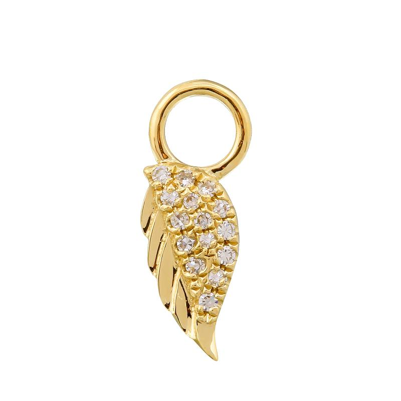 Angel Wing Earring Charm / Sold as Pair - Euro Time & Jewels