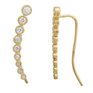 Round Diamond Ear Climber