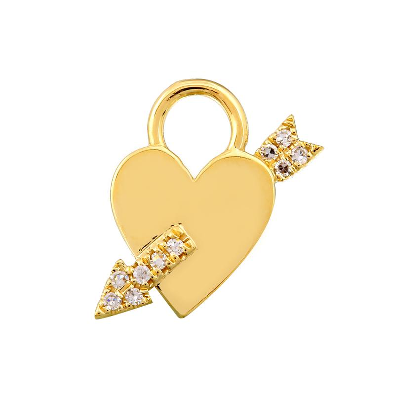 Arrow of Love Heart Earring Charm / Sold as Pair - Euro Time & Jewels