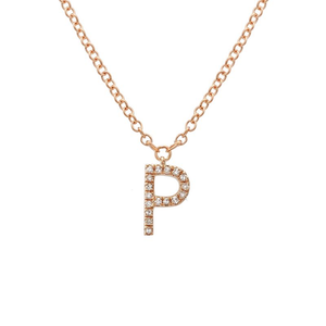 Small Initial Necklace - Euro Time & Jewels
