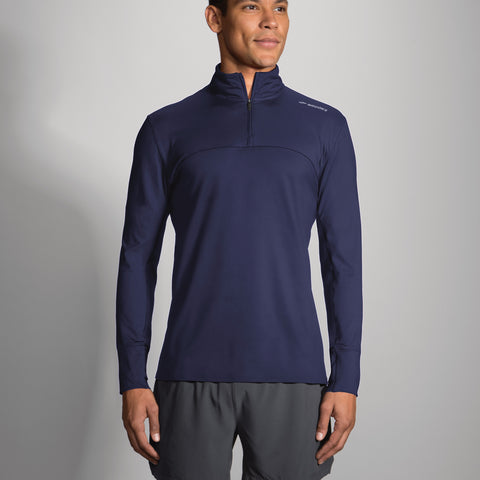 2017 Brook's Men's Dash 1/2 Zip - Navy