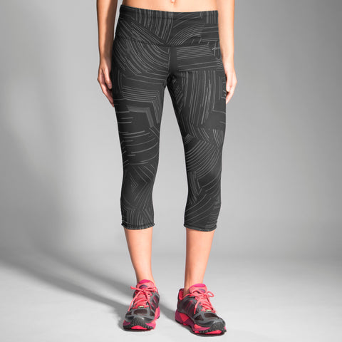 2016 Brook's Women's Greenlight Capri - Black Cosmo/Asphalt