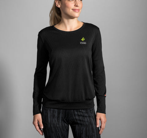 2019 Brooks TCM 10 Mile Array Long Sleeve - Black (Women's Sizing)