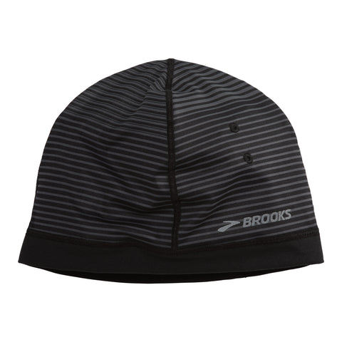 2017 Brook's Greenlight Beanie - Black/Asphalt Stripe