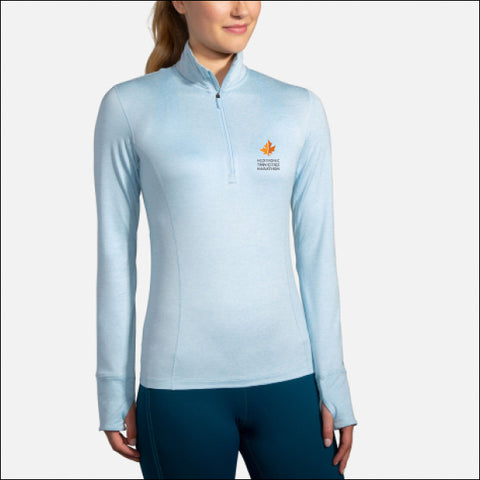 2020 Brooks TCM Dash 1/2 Zip - Heather Arctic (Women's Sizing)