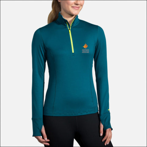 2020 Brooks TCM Dash 1/2 Zip - Deep Sea and Lime (Women's Sizing)