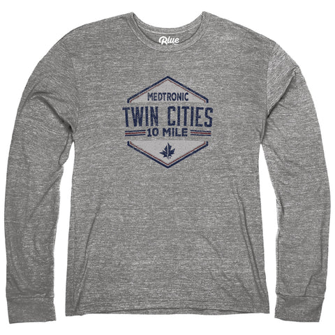 Long Sleeve Tri Blend Tee - Heather