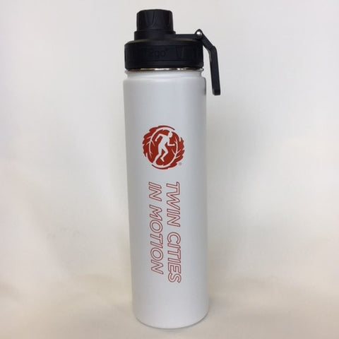 Twin Cities In Motion 24 oz Stainless Steel h2go Bottle