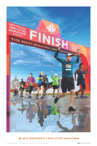 2018 Medtronic Twin Cities Marathon Weekend Poster