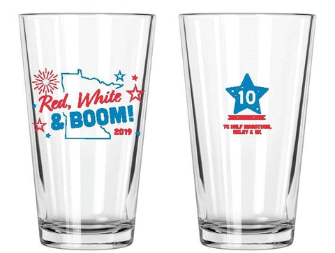 Red, White & Boom! Pint Glass (10th Anniversary)