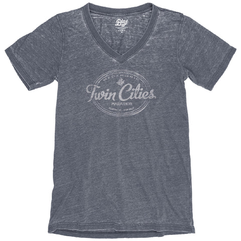 V Neck Tee - Navy (Women's Sizing)
