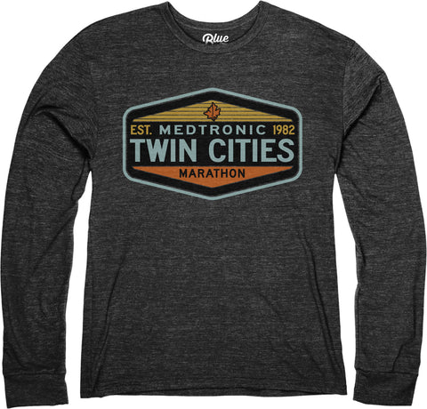 Long Sleeve Tri Blend Tee - Black