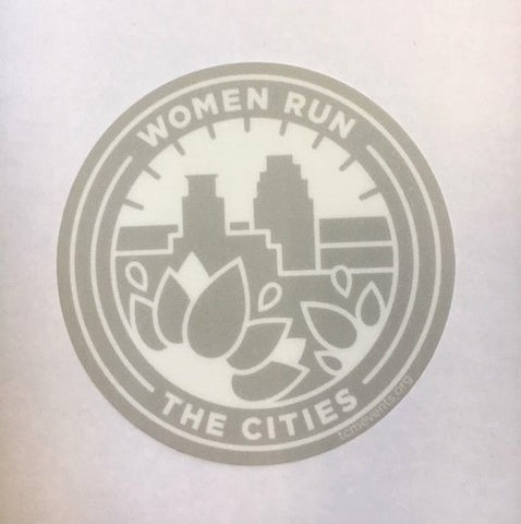Women Run the Cities Sticker (Car safe)